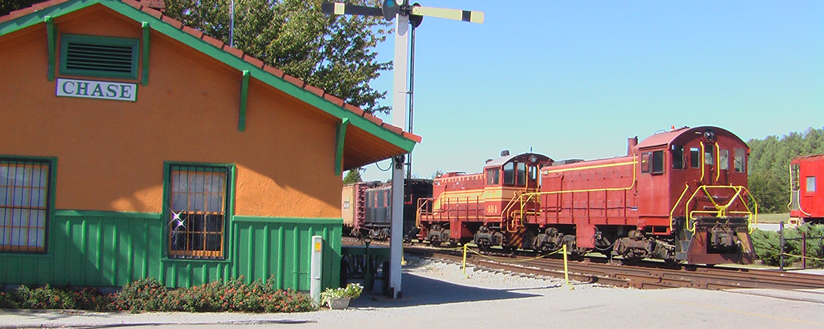 Chase Depot and Three Historic ALCo Locomotives